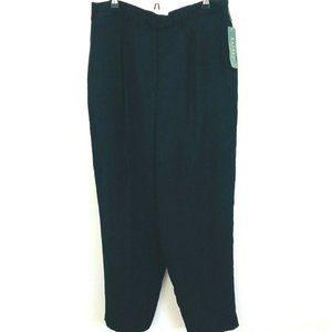 NWT! Ralph Lauren Solid Black Dress Pants 16W